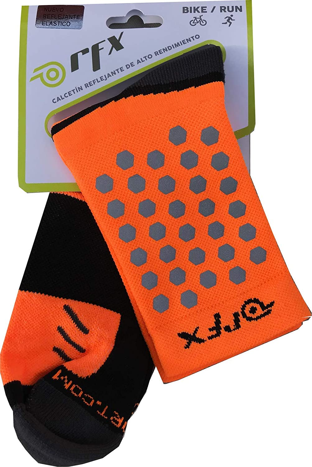 Amazon.com : RFX, High Visibility Reflective Socks, Compression, Activewear, Running, Cycling, (NEON Yellow) : Sports & Outdoors