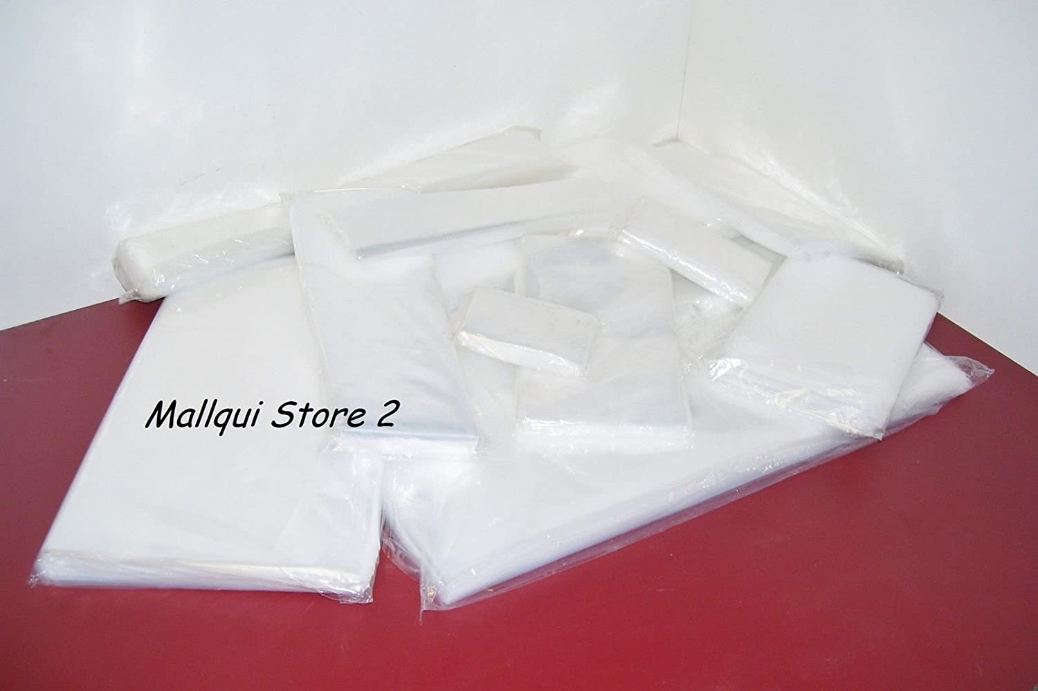 1000 4-Mil 4x8 Clear Poly Bag Open Top Lay Flat Packaging 122331