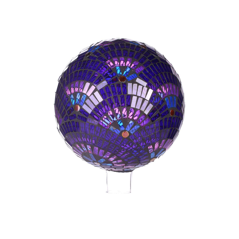 Goose Creek Colorful Mosaic Glass Gazing Ball 10'',Purple