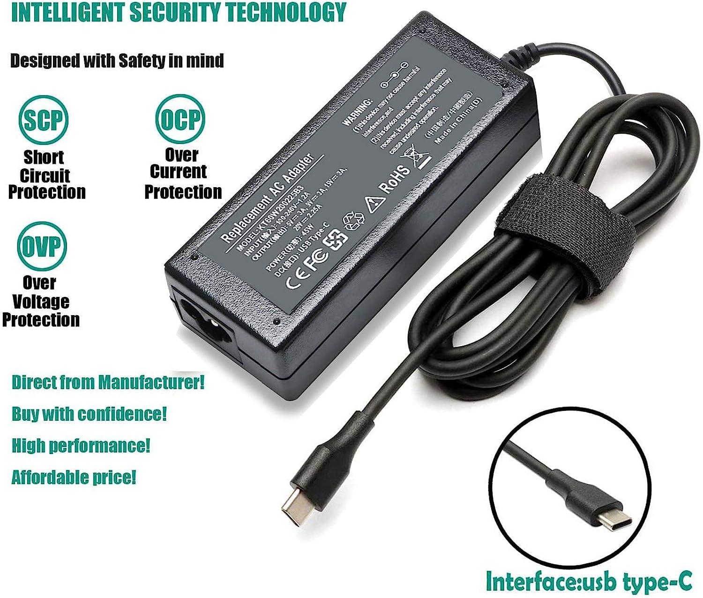 USB-C Laptop Charger for Lenovo Yoga C940 C740 S730 720 730 720-13IKB 730-13ikb 730S 910 920 920-13ikb 13 Chromebook C330 S330 N23 ThinkPad X1 Carbon T470s T480 T480s T580 T580s X390 P52S 4x20m26268
