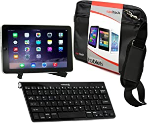 Navitech Converter Pack Including Multi OS Wireless Bluetooth Keyboard/Black Case Bag & Portable Stand Compatible with The Dell Venue 7 | Dell Venue 8 7000 | Dell Venue 11 pro 7140