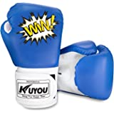 KUYOU Kids Boxing Gloves, Pu Kids Children Cartoon Sparring Boxing Gloves Training Age 5-12 Years