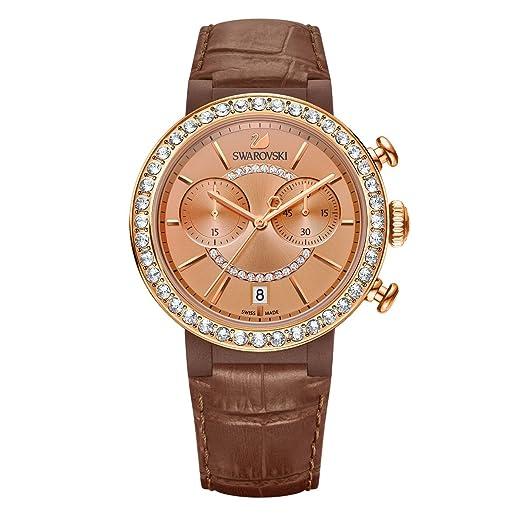 Swarovski Reloj analogico para Mujer de Cuarzo con Correa en Piel 5183367: Amazon.es: Relojes