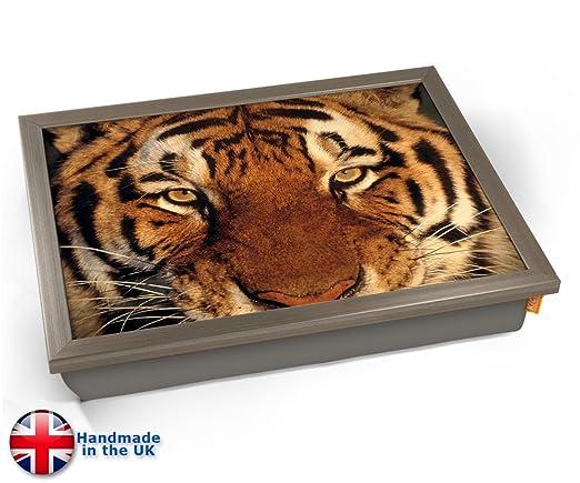 KICO Tiger - Bandeja para cojín, Chrome Effect Frame, 45cm ...