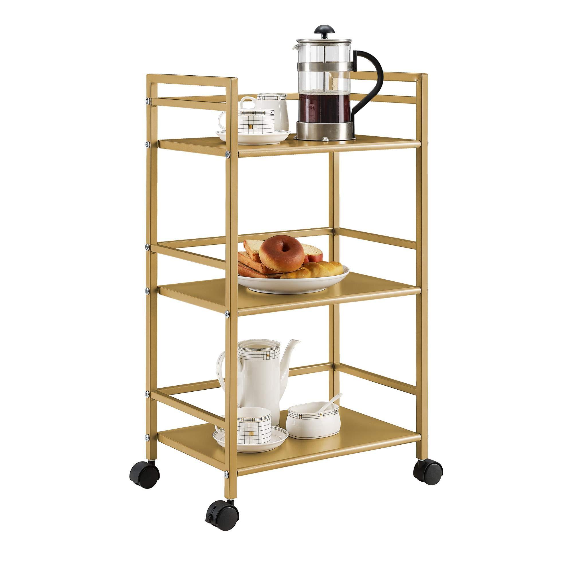 Novogratz 7741871COM Helix Utility Cart, Gold