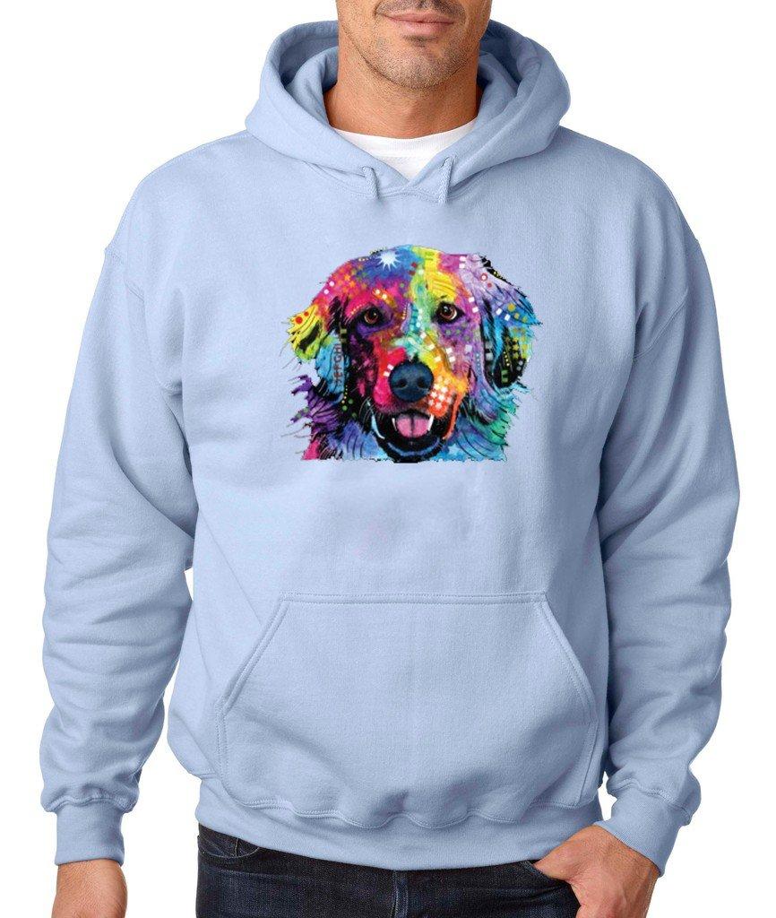 Love is Golden Hoodie Golden Retriever Best Friend Dogs Sweatshirt Light Blue 535 by VISHTEA (Image #1)