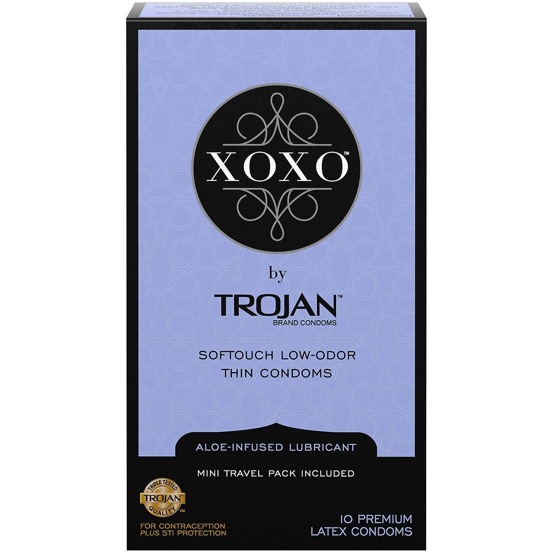 Trojan XOXOシンSoftouch潤滑ラテックスコンドーム、10カウント   B01MTW8HEC