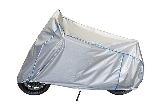 Motorrad Haube Plane Abdeckung atmungsaktiv UV best/ändig kompatibel mit Vespa GTS SUPER Sport 125-SUPER Sport 300 mit Koffer und Windschutzscheibe in Silber