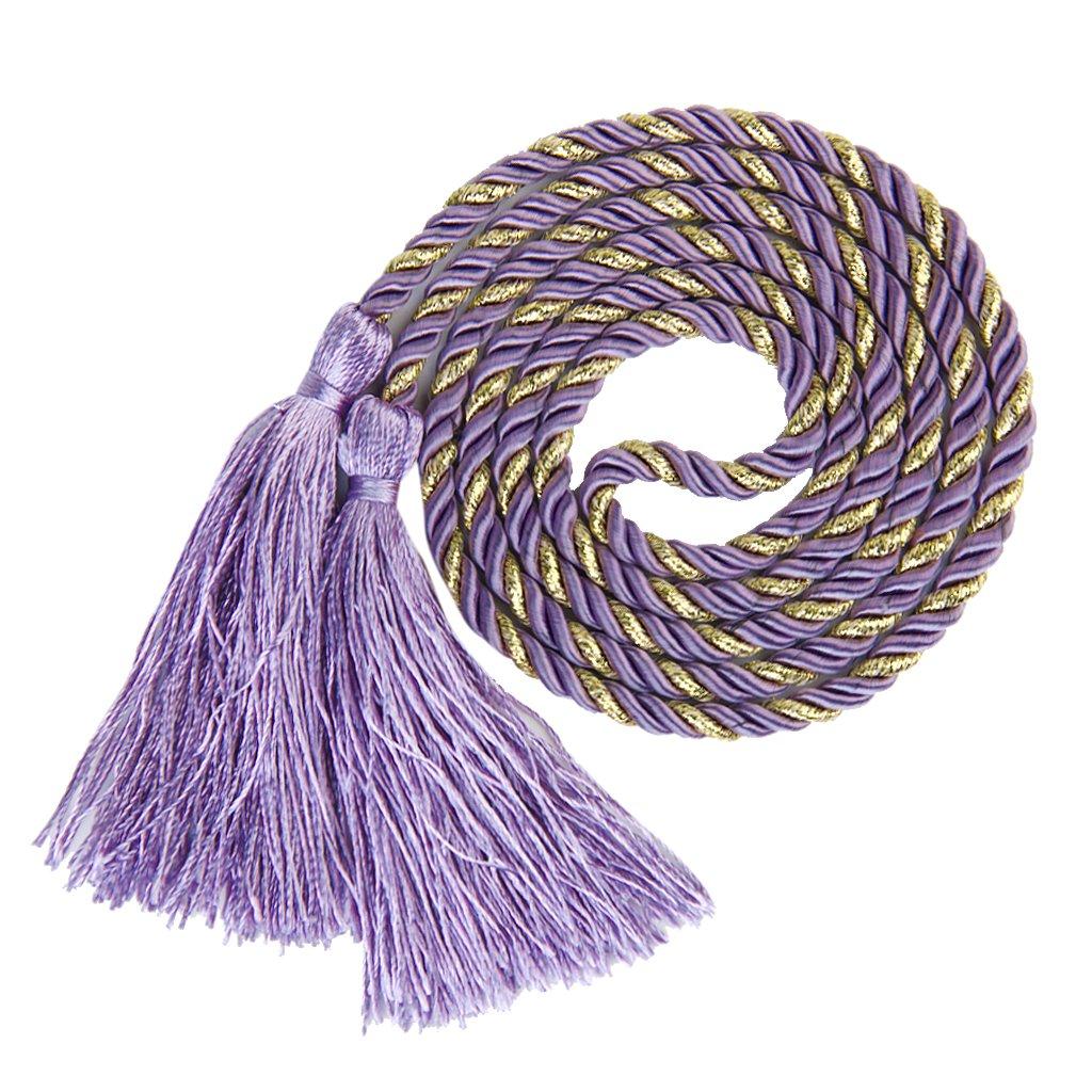 1 Pair Tassel Rope Bedroom Curtain Tiebacks Tie Backs Living Bedroom Purple + Golden