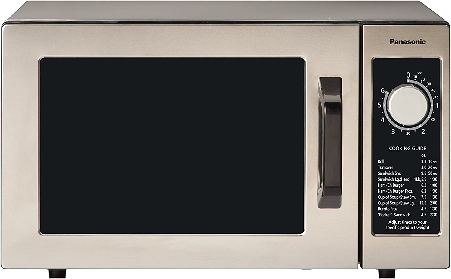 Panasonic NE-1054F Countertop Commercial Microwave Oven with 10 Programmable Memory, Touch Screen Control and Bottom Energy Feed, 1000W, 0.8 Cu. Ft. ...