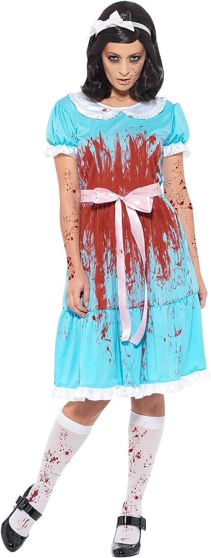 Smiffys 47574L - Disfraz de asesino sangriento para adultos, unisex, color azul, talla 41 a 46