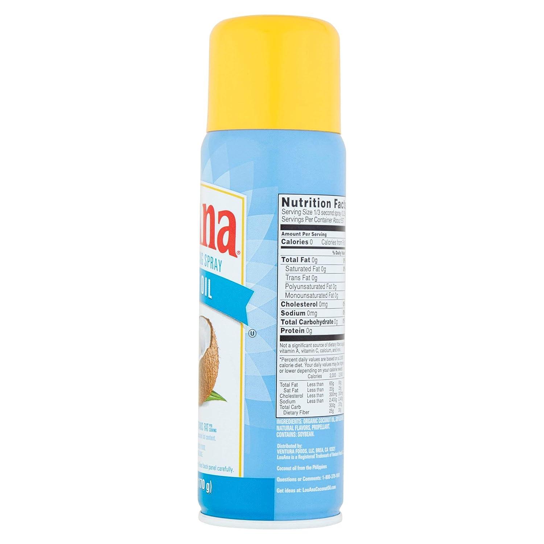 LouAna Aceite de coco antiadherente spray de cocina, 6oz ...