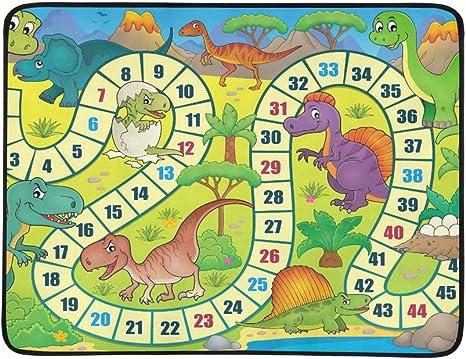 YSWPNA Juego de Mesa con Tema de Dinosaurio Eps Vector Il patrón portátil y Plegable Manta Mat 60 x 78 Pulgadas práctico para Camping, Picnic, Playa, Interior y Exterior, Viajes: Amazon.es: Deportes