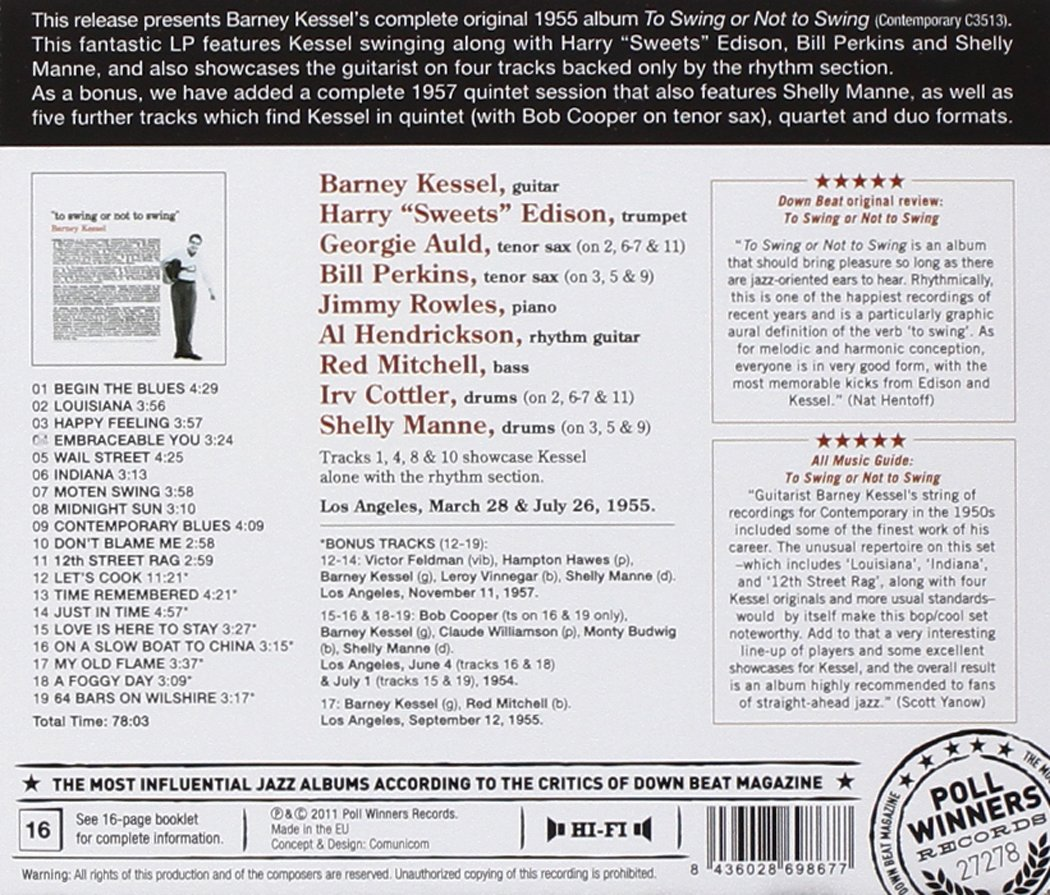 BARNEY KESSEL - To Swing Or Not to Swing - Amazon.com Music