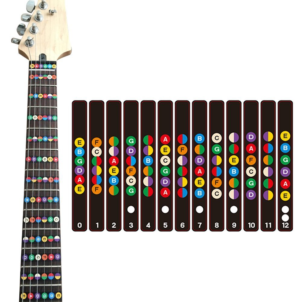ROSENICE Guitarra Fretboard Calcomanías de la nota Fingerboard Sticker Fret guía Etiqueta para violín: Amazon.es: Instrumentos musicales