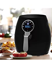 Kitchen Couture Easy to Use Digital Air Fryer Black Healthy Food Cook Recipe