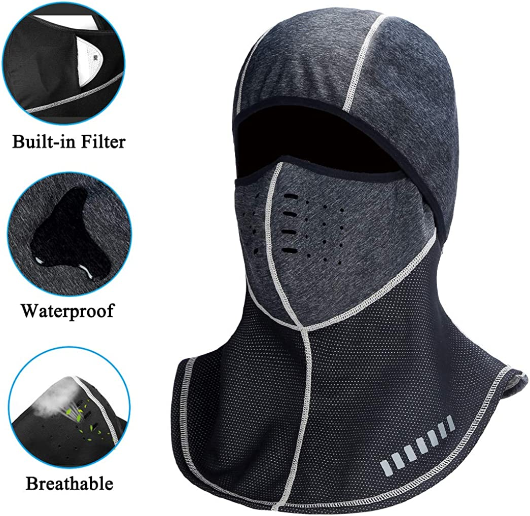 Windproof Ski Mask Winter Cold Weather Motorcycle Face Mask Cycling Balaclava