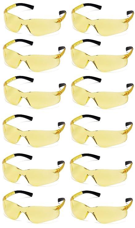 39adbe1c1680 Pyramex Ztek Safety Glasses Amber Lens S2530S (12 Pair Pack) - - Amazon.com