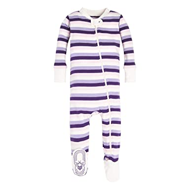 d51596eaa8 Amazon.com  Burt s Bees Baby - Baby Girls  Sleeper Pajamas