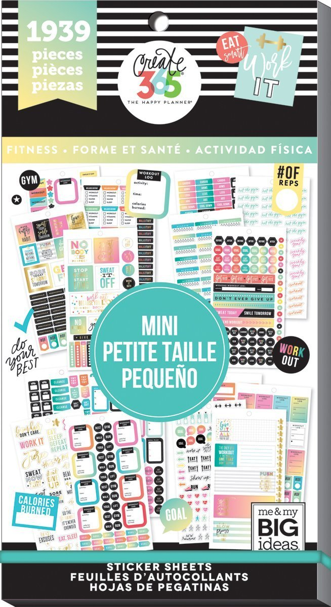 Me & My Big Ideas The Happy Planner - Value Pack Stickers - Work it Out PPSV-36-3048