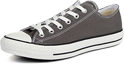 Converse All Star Ox Femme Chaussures Métallique Noir Gris foncé, 4.5 D(M) US EU
