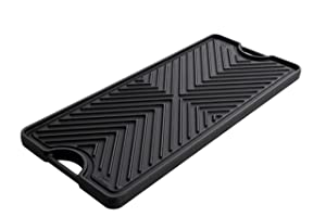 Thor kitchen Reversible Double Burner Plate for Grilling, Cast Iron-Griddle on the Burner, BBQ Plate