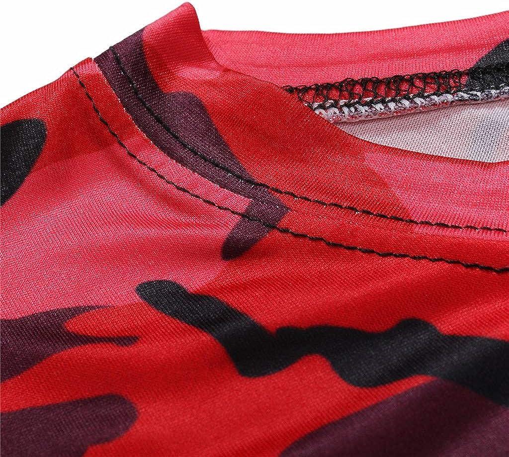 Summer Camouflage Short Sleeved Tees Top Blouse Realdo mens Mens Camo Gradient T-Shirt