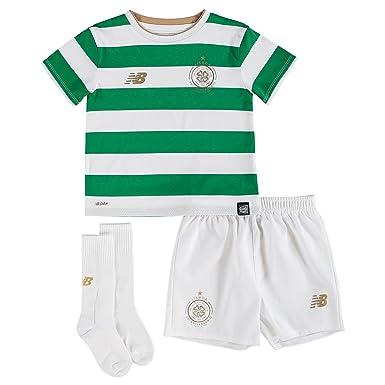 Celtic FC 17 18 Home Mini Kids Football Kit - White Green - size 4 ... c59d358e3