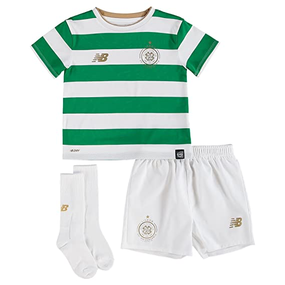 info for 0c179 8eb3d New Balance Celtic FC 17/18 Home Mini Kids Football Kit - White/Green