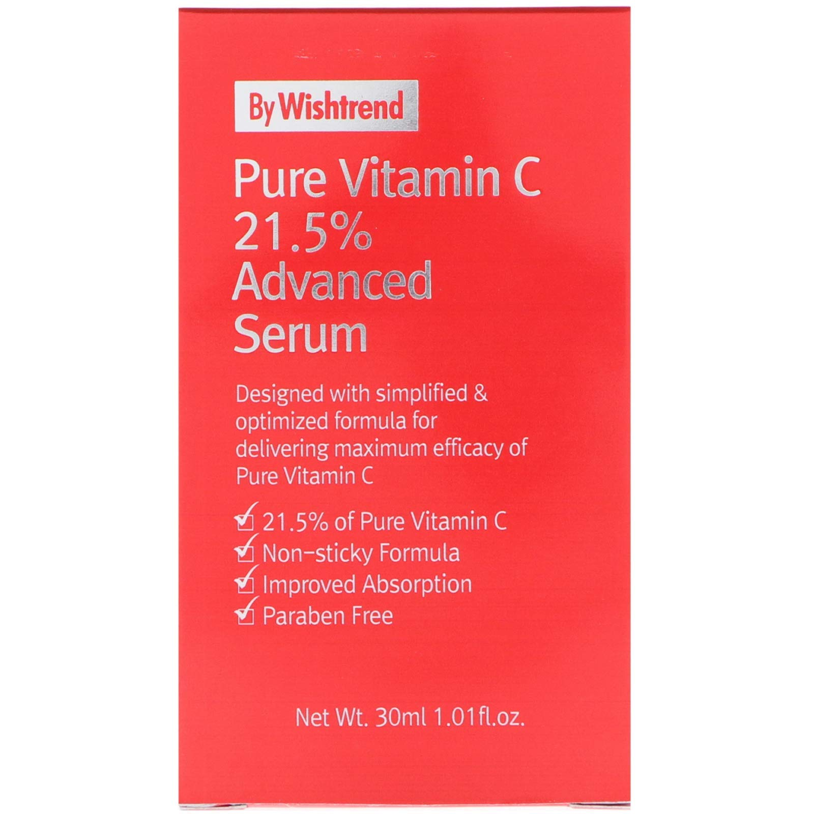 [By Wishtrend] Pure Vitamin C21.5% Advanced Serum 30ml, Clear and Healthier Skin