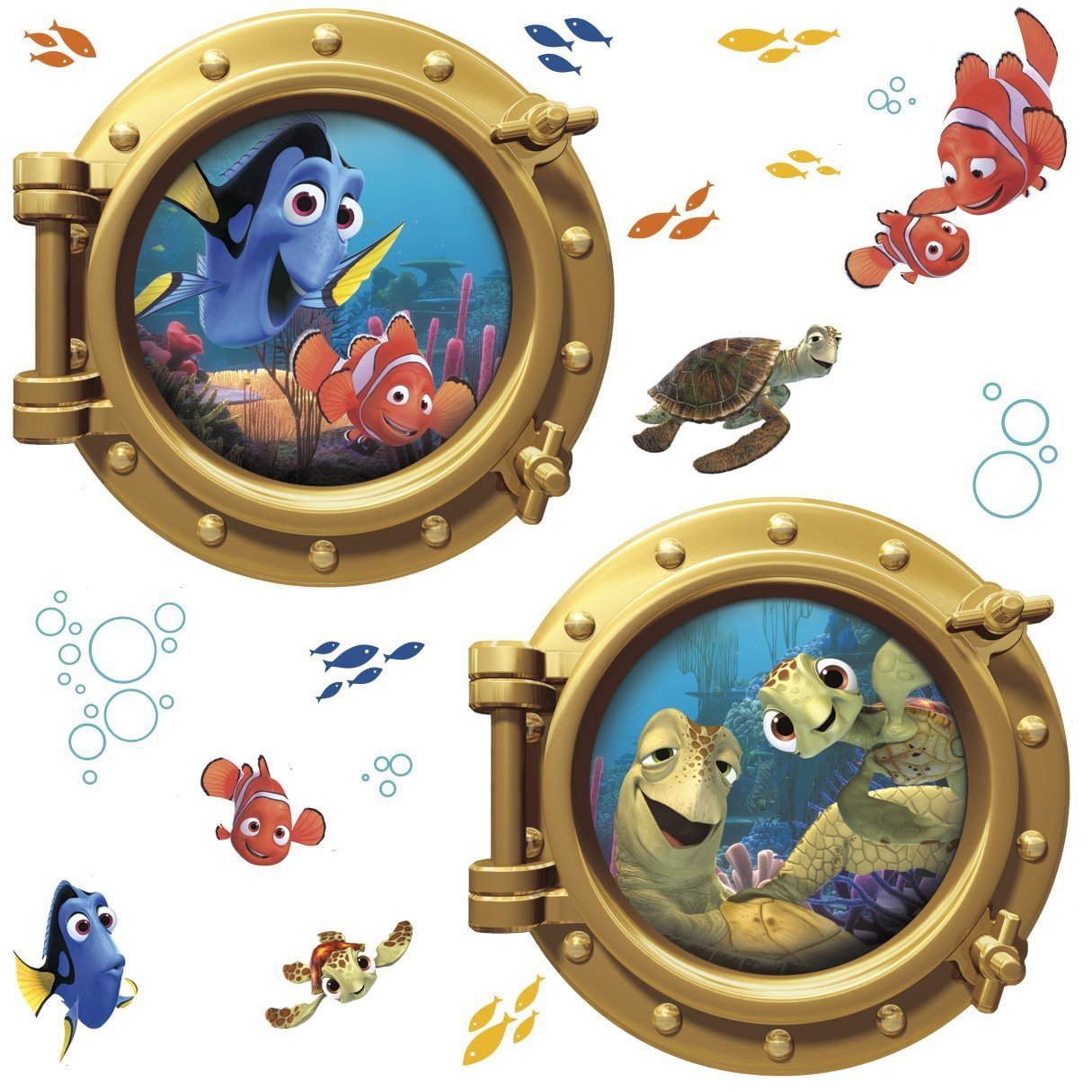 Amazon.com: Roommates Rmk2060Gm Finding Nemo Peel And Stick Giant Wall  Decals: Home Improvement