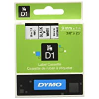 Dymo D1 Étiquettes Standard 9 mm x 7 m - Noir sur Blanc