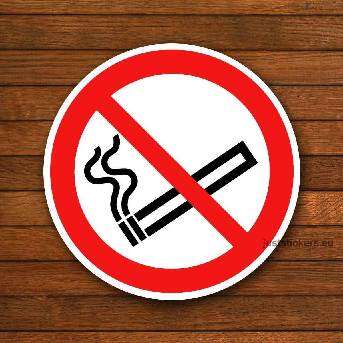 2 x No Smoking Signs (75mm) Stickers Decals self adhesive white vinyl car taxi bus dashboard JustStickers®