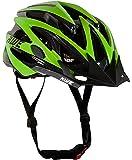 AWE WaveTM Casco da bicicletta,nero/verde lime, taglia 55–58cm