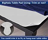 BigHala Table Pad Thick Flannel Backed Padded