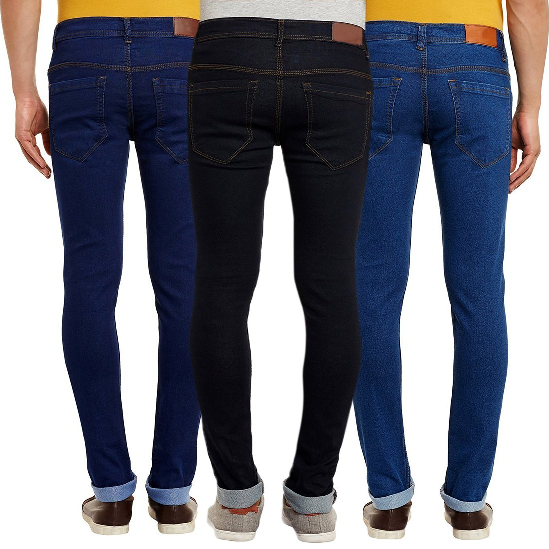 d3449889e3c Waiverson Slim Fit Men s Multicolor Jeans (Pack of 3)  Amazon.in  Clothing    Accessories