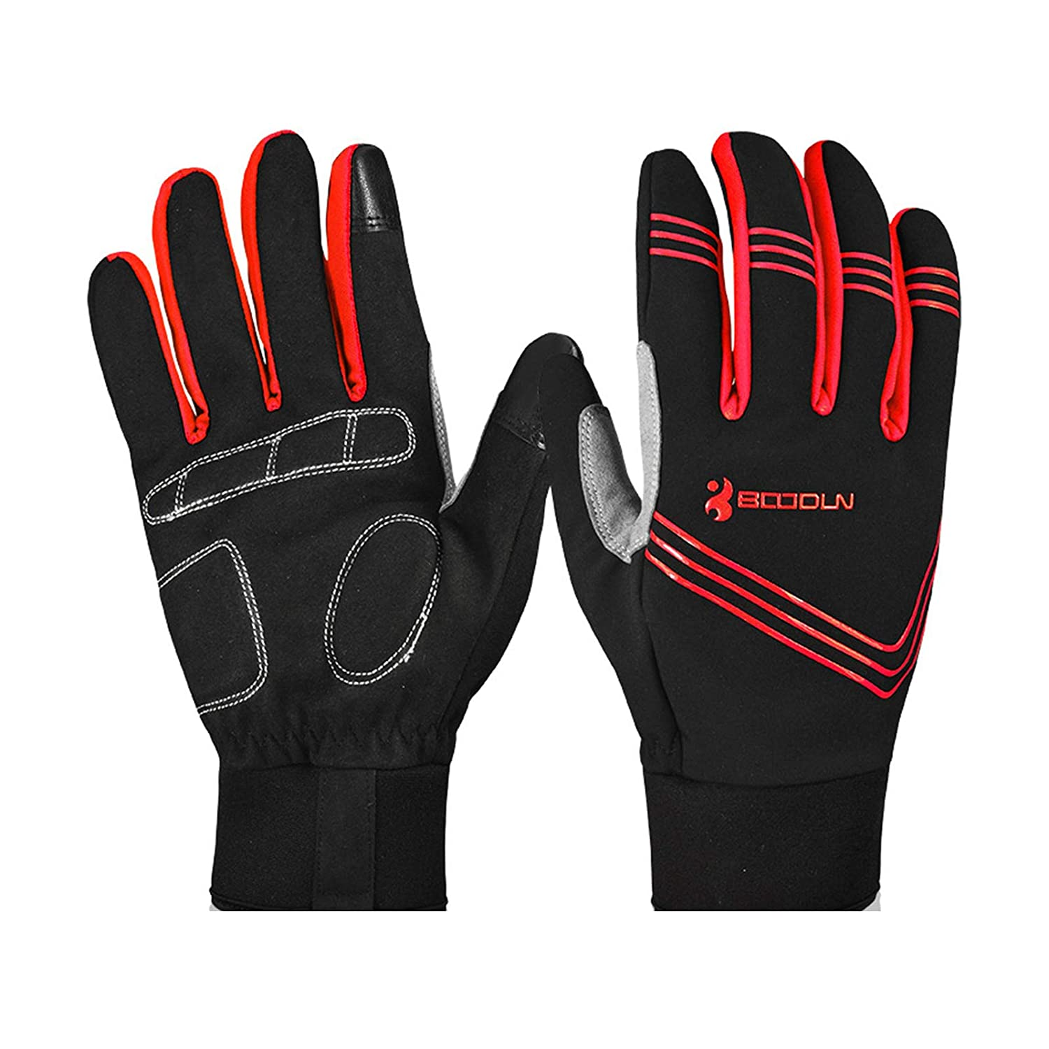 Aokarry Gloves Yellow Cycling Motocycle Gloves Microfiber Winter GlovesRed Blue