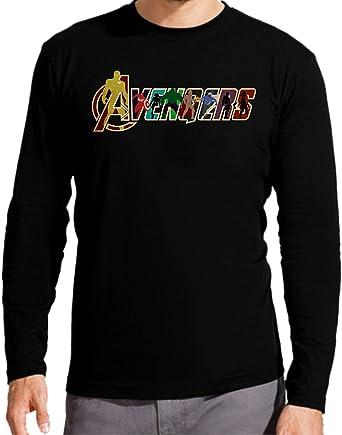 Camiseta Manga Larga de NIÑOS Avenger Los Vengadores Pantera Negra Thanos: Amazon.es: Ropa y accesorios