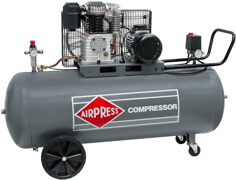 Airpress ölgeschmierter Druckluft Kompressor 4 0 Ps 3 Kw 10 Bar 200 Liter Kessel 400 Volt Großer Kolben Kompressor Hk 600 200 Baumarkt