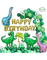 Dinosaur Party Decoration Supplies, Daypicker Dinosaur Balloons Banner 20pcs Green Latex Balloons 10pcs Dinosaur Balloons 2pcs Green Tyrannosaurus Rex 2Pc Pin Blue Dinosaur Balloons