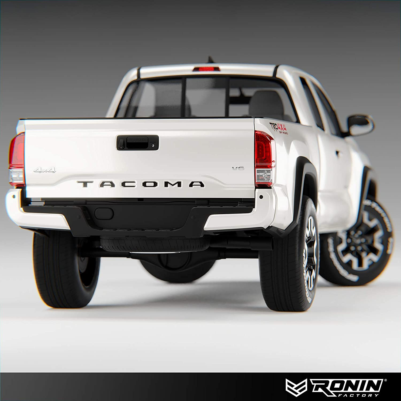 Thick Plastic Emblem Tailgate Letters for Toyota Tacoma Black