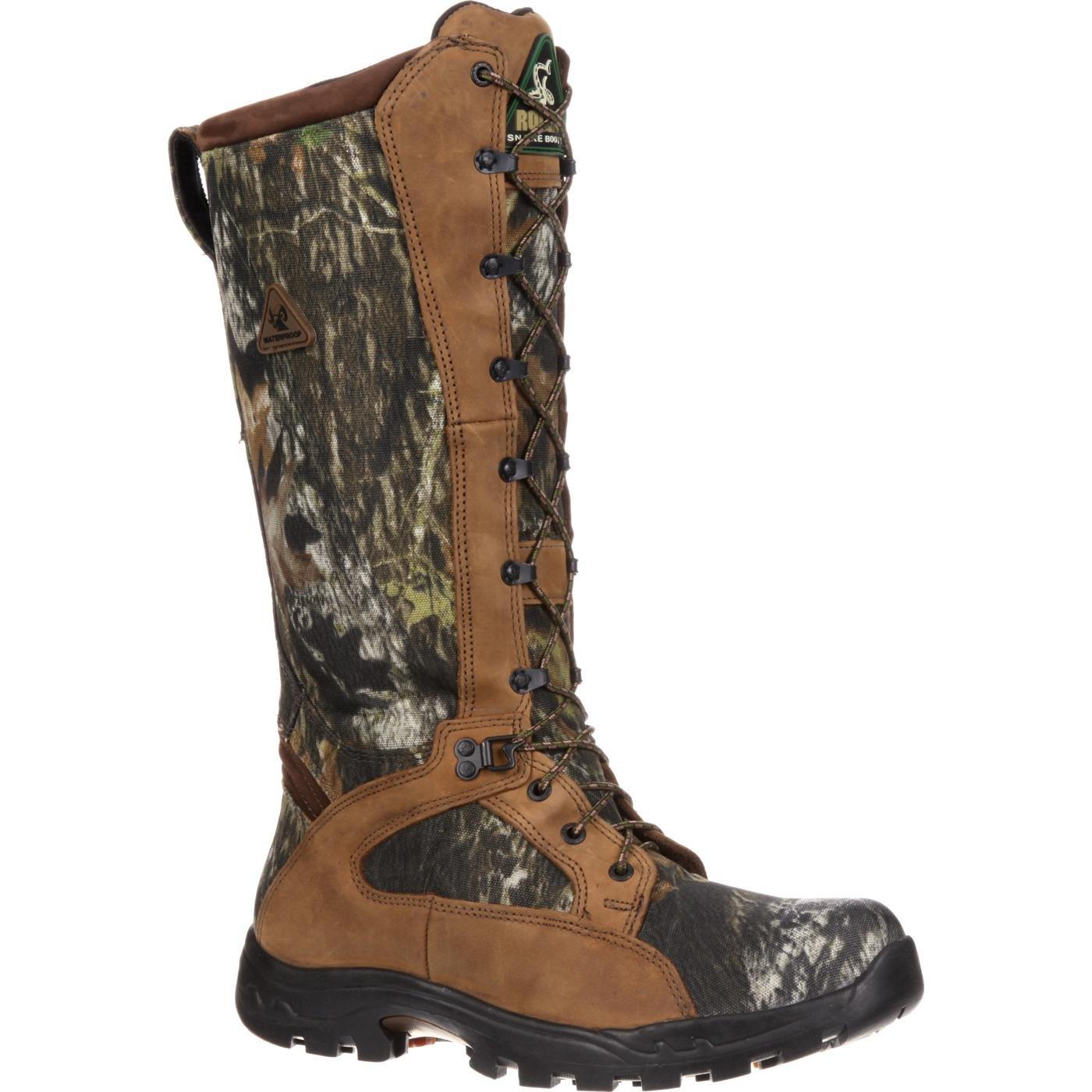 Rocky Men's Waterproof Snakeproof Hunting Boot Knee High, Mossy Oak Breakup, 8.5 M US
