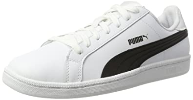 Puma Mens Smash L, WHITE-BLACK-WHITE, ...