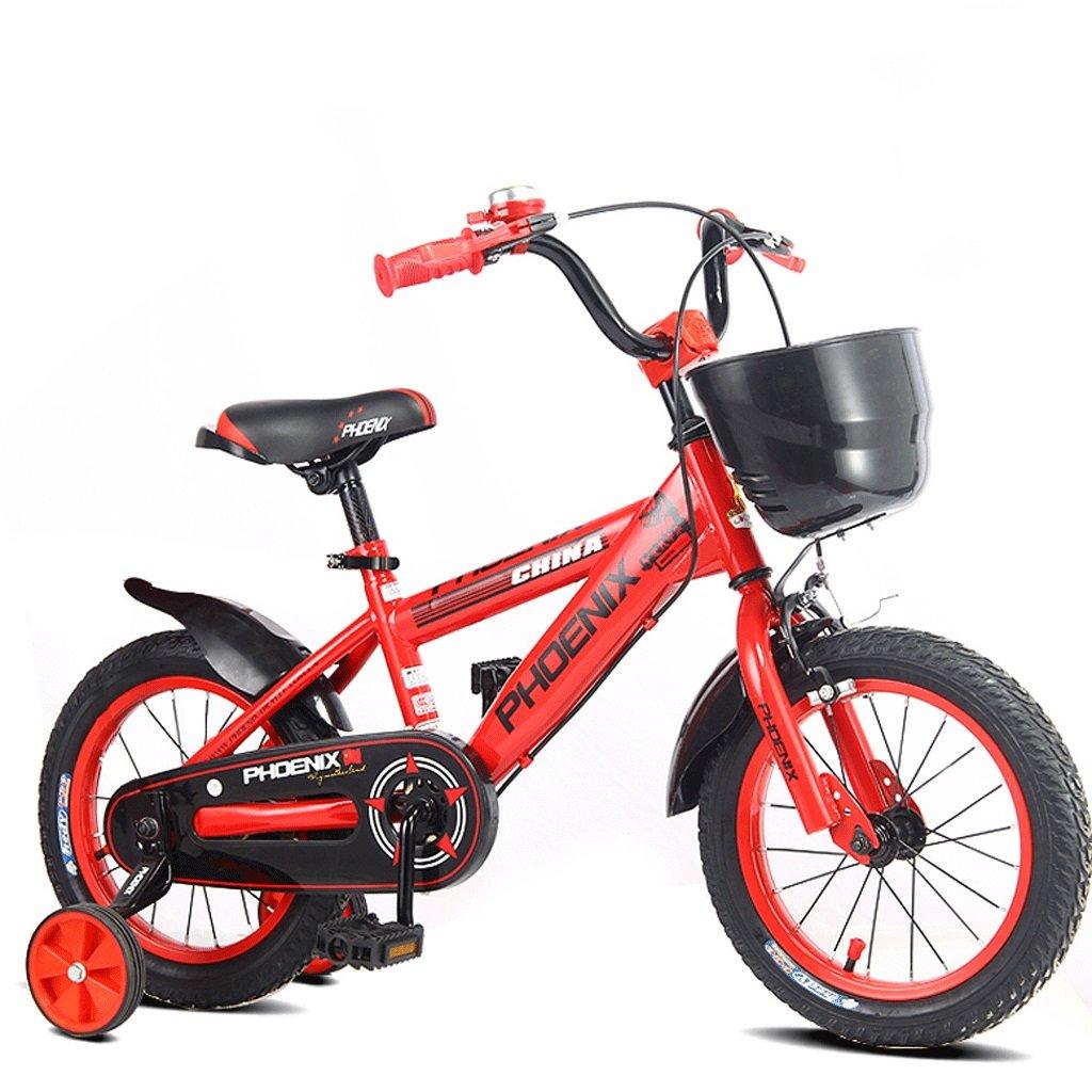 DGF 子供の自転車キッズペダル自転車の少年少女の赤ちゃん2-10屋外バギー (色 : 赤, サイズ さいず : 14 inches) B07FGXFGFT赤 14 inches