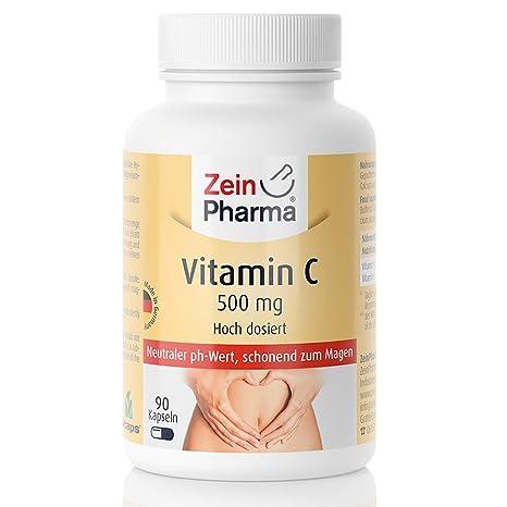 Zein Pharma Tamponada Vitamina C 500 mg Cápsulas (90 Cápsulas)