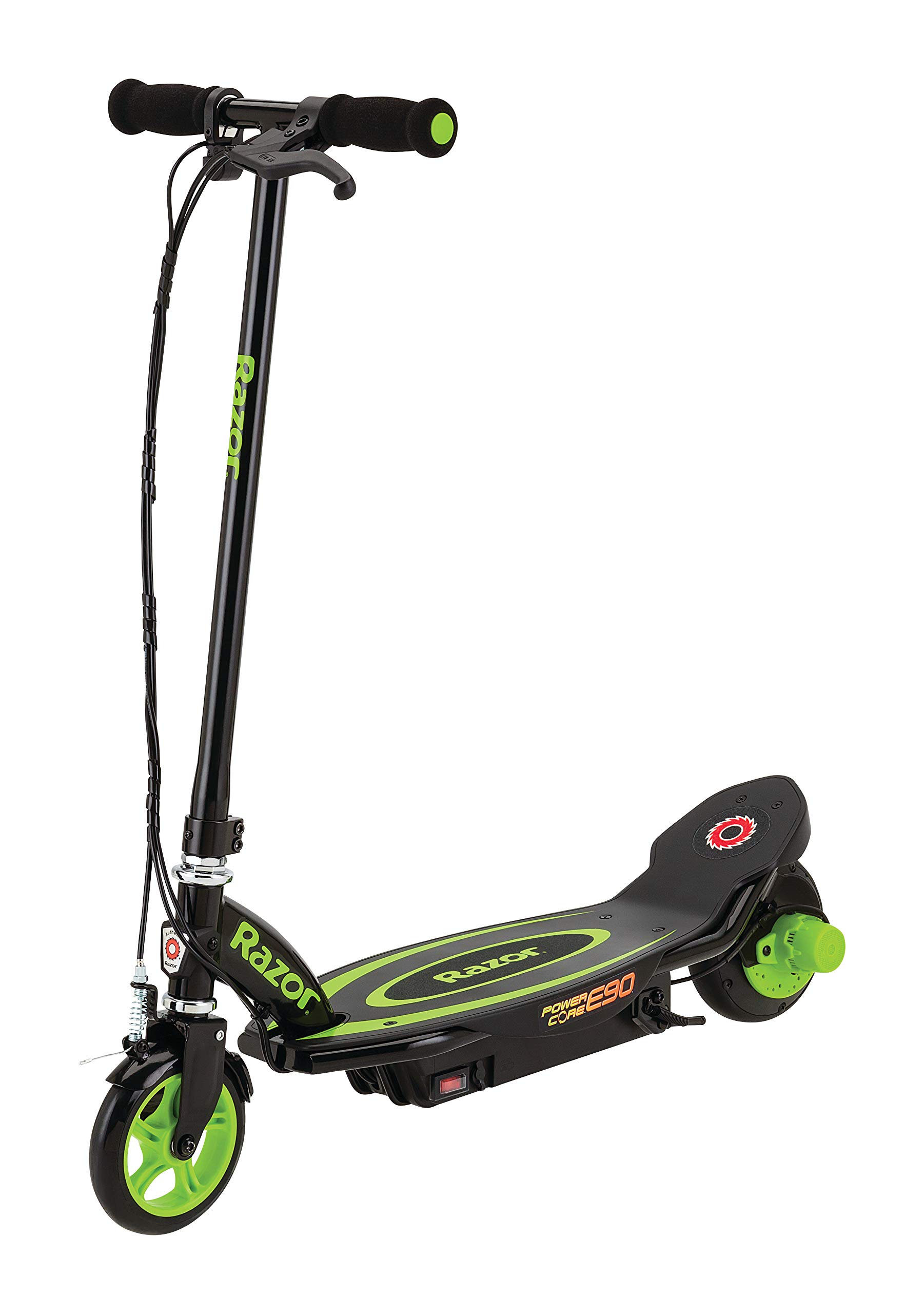 Razor Power Core E90 Electric Scooter - Hub Motor, Up to 10 mph and 80 min Ride Time, for Kids 8 and Up