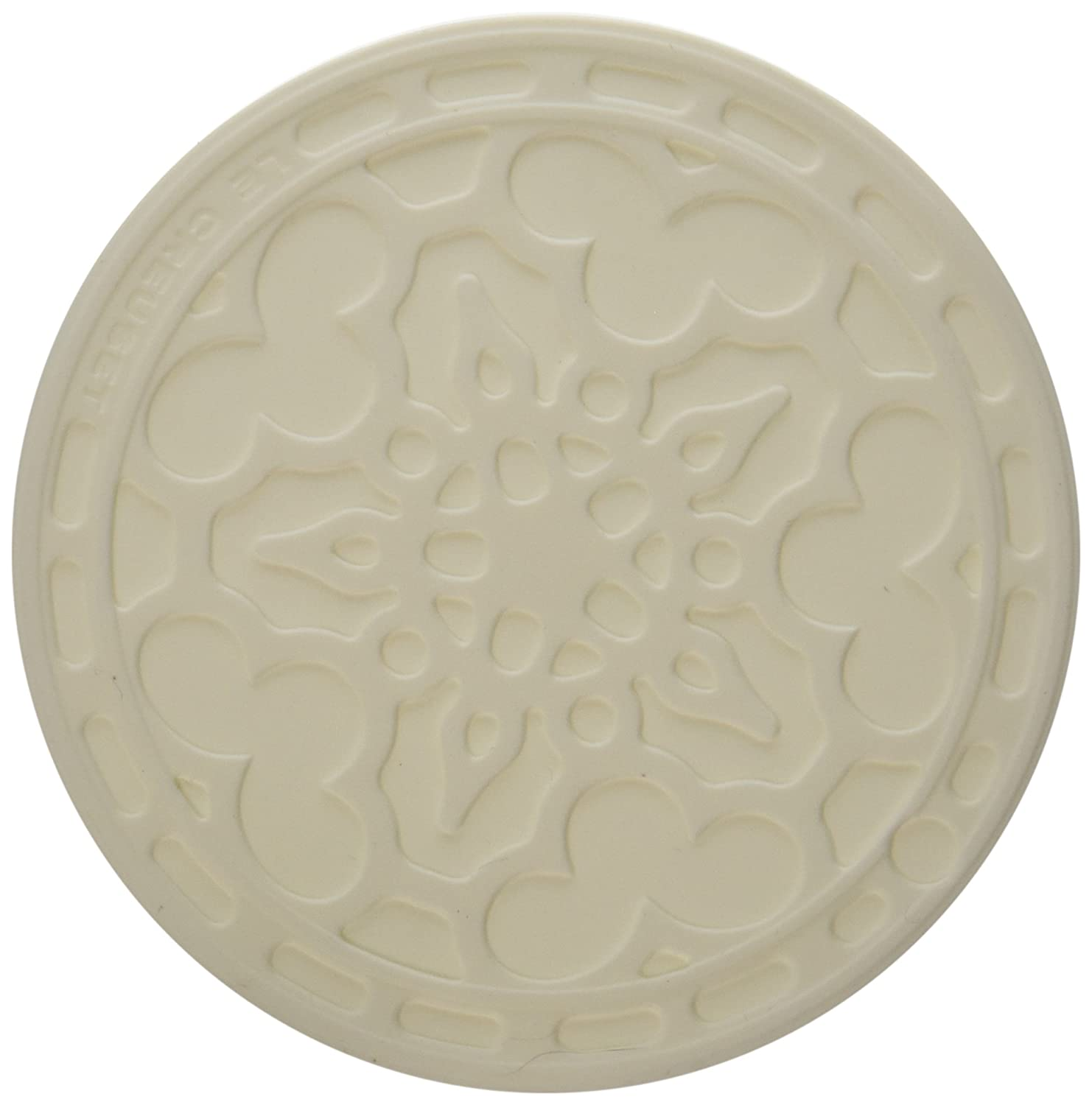Le Creuset Silicone Set of 4 French Coasters, White