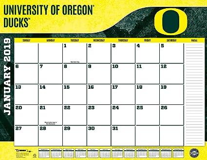 U Of O Calendar 2019 Amazon.: Turner 1 Sport Oregon Ducks 2019 22X17 Desk Calendar
