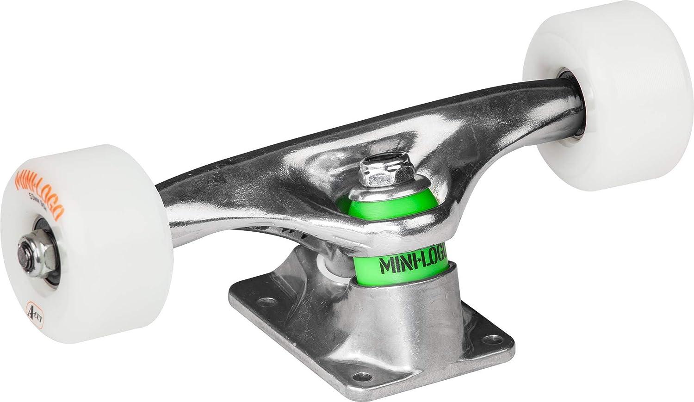ML Bearings, Soft 84a Bushings 53mm x 90a Wht Wheels Mini-Logo Raw 7.63 Trucks