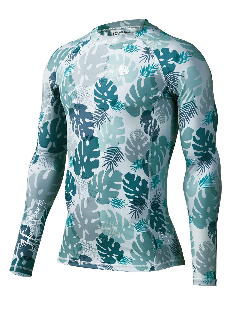 70a2bbd8 HUGE SPORTS Men's Splice UV Sun Protection UPF 50+ Skins Rash Guard Long  Sleeves product